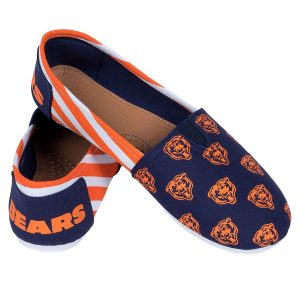 Chicago Bears Women's Canvas Stripe Shoes