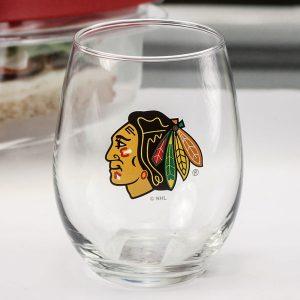 Chicago Blackhawks 15oz. Stemless Wine Glass