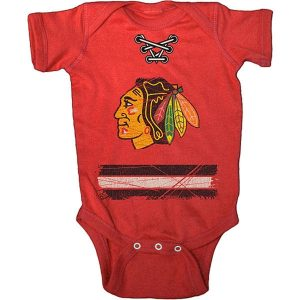 Chicago Blackhawks Old Time Hockey Newborn & Infant Beeler Bodysuit