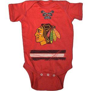 Chicago Blackhawks Old Time Hockey Newborn & Infant Beeler Bodysuit