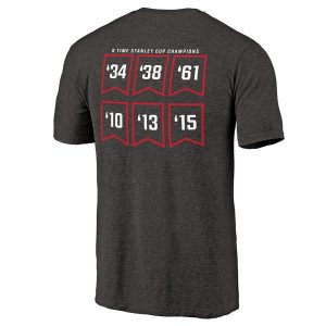 Chicago Blackhawks Raise the Banner Tri-Blend T-Shirt
