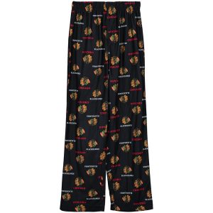 Chicago Blackhawks Reebok Youth Allover Printed Sleeper Pants