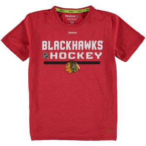 Chicago Blackhawks Reebok Youth Authentic Freeze PlayDry T-Shirt