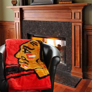 Chicago Blackhawks Stamp 60″ x 80″ Raschel Plush Blanket