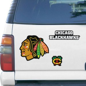Chicago Blackhawks WinCraft 11'' x 11'' 3-Pack Vinyl Magnet Set