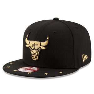 Chicago Bulls New Era Current Logo Star Trim Commemorative Champions Snapback Adjustable Hat