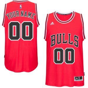 Chicago Bulls adidas Custom Swingman Road Jersey