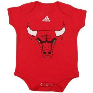 Chicago Bulls adidas Newborn Primary Logo Bodysuit