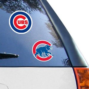 "Chicago Cubs 2-Pack 4"" x 4"" Die-Cut Decals"
