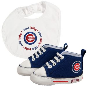 Chicago Cubs Newborn & Infant Bib and Shoe Gift Set