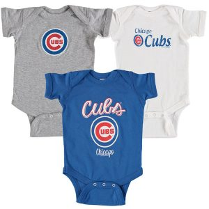 Chicago Cubs Soft as a Grape Infant 3-Pack Rookie Bodysuit Set