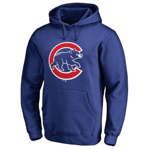Chicago Cubs Team Color Primary Logo Pullover Hoodie