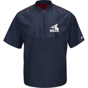 Chicago White Sox Majestic On-Field Training Short Sleeve Half-Zip Jacket