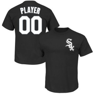 Chicago White Sox Majestic Youth Custom Roster Name & Number T-Shirt