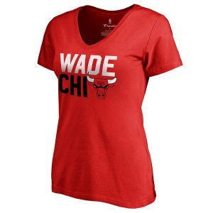 Dwyane Wade Chicago Bulls Women's Slim Fit V-Neck T-Shirt