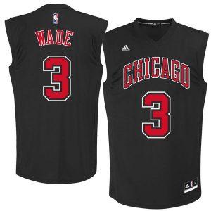Dwyane Wade Chicago Bulls adidas Fashion Replica Jersey