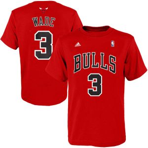 Dwyane Wade Chicago Bulls adidas Youth Game Time Name & Number T-Shirt
