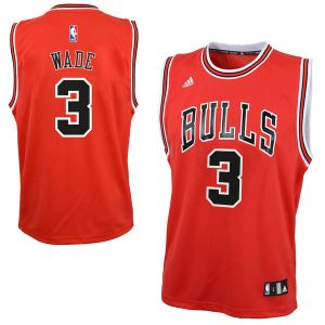 Dwyane Wade Chicago Bulls adidas Youth Replica Jersey