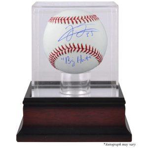 Frank Thomas Chicago White Sox Fanatics Authentic Autographed Baseball with Big Hurt Inscription and Mahogany Baseball Display Case