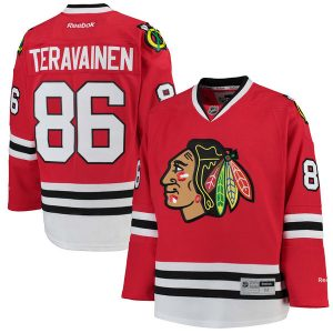 Teuvo Teravainen Chicago Blackhawks Reebok Home Premier Player Jersey