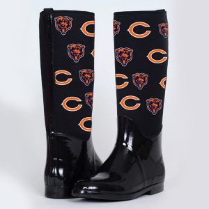 Chicago Bears Cuce Shoes Women's Enthusiast II Rain Boots – Black