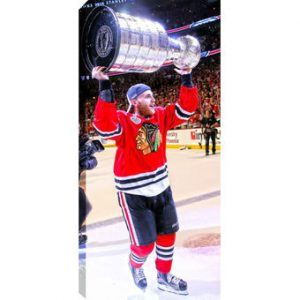 Patrick Kane Chicago Blackhawks 2015 Stanley Cup Champions Player 14″ x 28″ Canvas