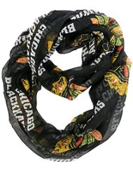 Chicago Blackhawks Alternate Black Sheer Infinity Scarf