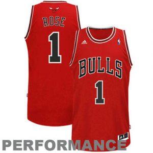 Derrick Rose Chicago Bulls adidas Swingman Road Jersey – Red