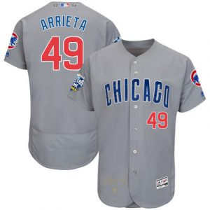 Jake Arrieta Chicago Cubs Majestic 2016 MLB All-Star Game Signature Flex Base Jersey – Gray