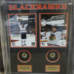 Autographed Shadowbox W/Puck – Chicago Blackhawks Patrick Kane and Jonathan Toews