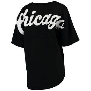 Chicago White Sox Black Oversized Spirit Jersey V-Neck T-Shirt