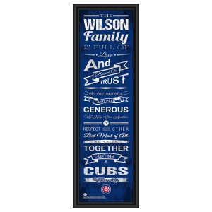 Chicago Cubs MLB Family Rules Framed Art