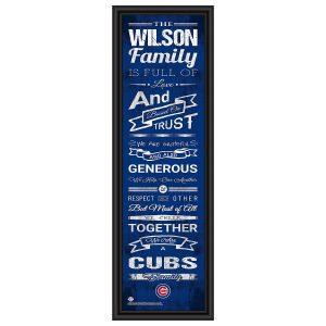 Chicago Cubs MLB Family Rules Framed Art