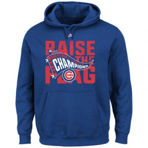 Men's Chicago Cubs Majestic Royal 2016 National League Champions Locker Room Pullover Hoodie