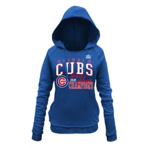 Women's Chicago Cubs 5th & Ocean by New Era Royal 2016 National League Champions Pullover Hoodie