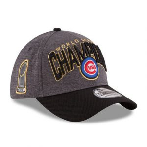 Chicago Cubs New Era 2016 World Series Champions Locker Room On Field 39THIRTY Flex Hat – Graphite/Black