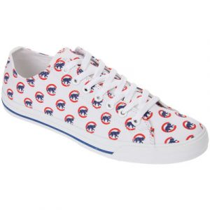 Chicago Cubs Row One Women's Victory Sneakers – White