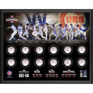 Chicago Cubs 2016 MLB World Series Champions Framed Autographed 40″ x 35″ 12 World Series Baseballs Shadowbox – Limited Edition of 50