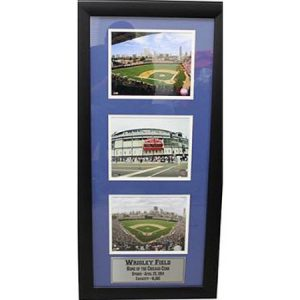 Wrigley Field 3-Photo Frame, 15×35