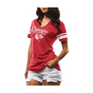 Majestic Weathered Chicago Blackhawks Short Sleeve Tee